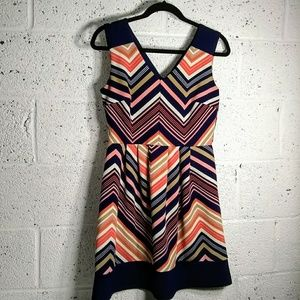 Enfocus Petite Sz 6P Chevron Dress Sleeveless